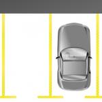 In Parklücken findet genau ein Auto einen Platz