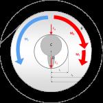 Physikalisches Modell der Toilettenpapier-Halterung und teilweise verbrauchter Papierrolle