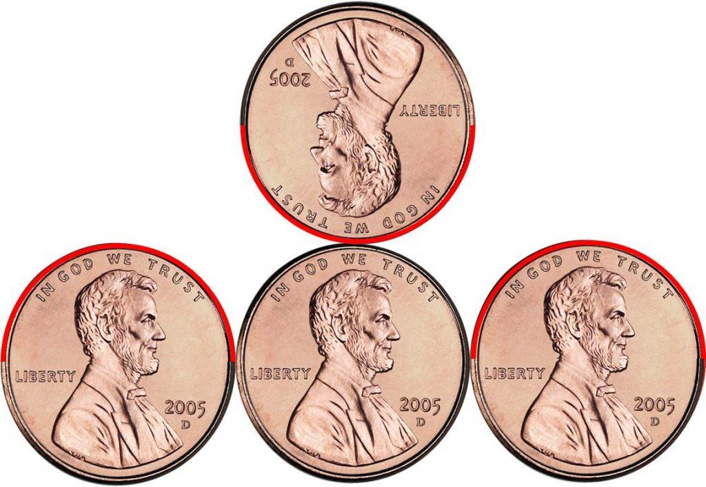 Die Rotation der Münze Schritt für Schritt